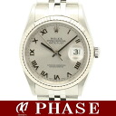 16234 Rolex date just silver long novel P turn /30295