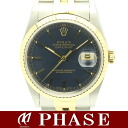 16233 Rolex date just dark blue clockface T turn /30524