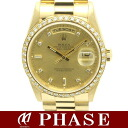 Rolex 18,348A 750YG pure D date diamond 10P/30532 fs3gm
