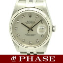 Rolex 16234G date just diamond 10P Y turn /30614 fs3gm