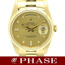 Rolex 18238A 750YG solid day-date diamond 10P/30679 fs3gm