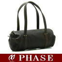 Gene ten shoulder Boston bag leather dark brown /12544