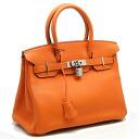 Hermes ☆ unused Birkin 30 triyoncremans Orange O engraved HERMES/53760