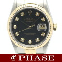 Rolex 16233G date just YGSS lindera board diamond 10P men self-winding watch /31137 fs3gm