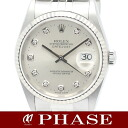 Rolex 16234 G Datejust WGSS silver diamond 10 p men's automatic self-winding / 31148 fs3gm