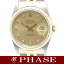 Rolex 16233 G Datejust YGSS champagne diamond 10 p men's automatic self-winding / 31149 fs3gm