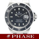 16610 Rolex submarina date SS black men self-winding watch K turn /31157 fs3gm