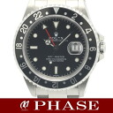 Rolex 16700 GMT Master SS black dial mens automatic winding / 31163