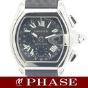 Cartier roadster chronograph W62019X6 SSx black nylon belt men self-winding watch /31189 fs3gm