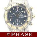 Omega シーマスタークロノ chart 2296.80 TIxYG Combi blue mens automatic winding / 31193 fs3gm