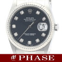 Rolex 16234G date just WGSS lindera board diamond 10P men self-winding watch /31269