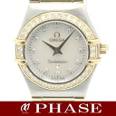 1267.75 omega コンステレーション YGSS combination shell clockface diamond bezel diamond 10P Lady's quartz /31278