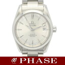 2504.30 omega Cima star aqua terra SS silver men self-winding watch /31355