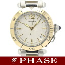 Cartier Pasha YGSS Combi Silver Guilloche boys automatic winding / 31388 fs3gm