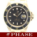 Rolex 16618 750YG solid black サブマリーナデイト men's automatic self-winding / 31421 fs3gm