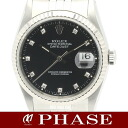 Rolex 16234G date just WGSS diamond 10P lindera board men self-winding watch /31485 fs3gm