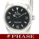 114270 1 Rolex Explorer SS black Z turn men self-winding watch /31486 fs3gm