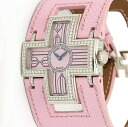 ロジェデュブイ F16850FD follow me diamond bezel WG pure x pink leather belt Lady's quartz /31558 ROGER DUBUIS