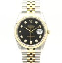 Rolex 116233 G Datejust SSxYG black dial mens automatic winding number M / 32804 ROLEX DATEJUST