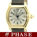 Cartier 750 YG solid x leather Roadster mens / 39889 fs3gm