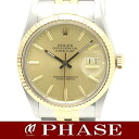 16013 Rolex date just YGSS combination champagne gold men self-winding watch /32168 ROLEX DATEJUST