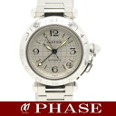 Cartier W31078M7 pasha C メリディアン GMT SS silver clockface men self-winding watch /32289 Cartier