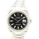 Rolex 116334 Datejust 2 black dial roulette V-men's automatic self-winding / 32419 ROLEX DATEJUST