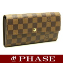 Louis Vuitton ☆ new article N61734 ダミエポルトフォイユサラ long wallet Louis Vuitton/44388fs3gm