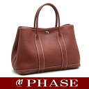 HERMES garden party PM leather red system O carved seal HERMES/50953