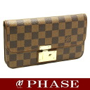 Louis Vuitton N63171 ダミエポルトフォイユアスコット long wallet /45101