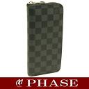Louis Vuitton ☆ new N63095 Damien grab fit zipper wallet vertical length wallet / 45892