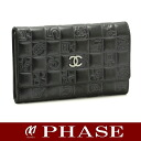 CHANEL A28582 icon line compact wallet black /42428 fs3gm