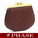 Cartier ☆ new coin purse coin purse leather dark red / 42465 fs3gm