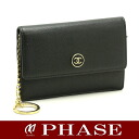Calf black /42582 fs3gm with the CHANEL A20908 here button coin case key ring