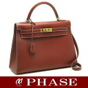 32 HERMES ☆-free Kelly handbag boxcalf /14708 fs3gm