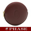 Cartier ☆-free coin case leather Bordeaux /42253