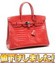 Hermes Birkin handbag 35 Porosus Lycee Q mark bougainvillea HERMES/53629