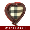 Burberry 3632662 heart-coin check pattern / 43187 fs3gm