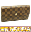 Louis Vuitton ☆-free N61734 ダミエポルトフォイユサラ long wallet Louis Vuitton/45451
