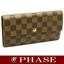 Louis Vuitton ☆-free N61734 ダミエポルトフォイユサラ long wallet Louis Vuitton/45456