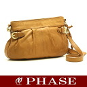 Kanematsu slant credit shoulder bag leather camel /14796 fs3gm