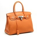 Hermes ☆ unused Birkin 30 slope Orange L imprinted bags HERMES/53044