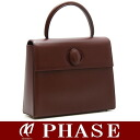 Cartier ☆-free handbag calf wine red /12488 fs3gm
