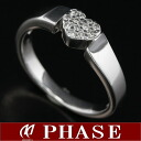 ポンテヴェキオ K18WG heart ring diamond 0.12ct 10 /98111