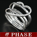 ポンテヴェキオ K18WG heart ring diamond 0.16ct 10 /98165