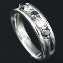 K18WG Diamond 0.20ct Black Diamond 0.38ct Ring Size 12/62511