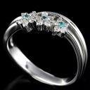 K18WG diamonds 0.16 ct Paraiba 0.04 ct 11 / a 62691