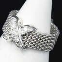 Tiffany 750 WG Somerset signature ring Diamond-9 / 90156