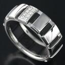 Chaumet 750 WGx rubber clown ring Diamond 52 080405 - 052 / 90171