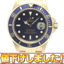 Rolex 16618T YG innocent blue sub marina date men self-winding watch F turn /31353